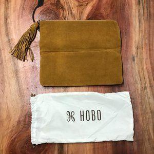 Hobo Laptop Tablet Bag Case Suede Fringe EUC W4-13